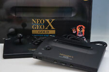SNK NEO GEO X GOLD LIMITED EDITION CONSOLE & CONTROLLER JP NTSC 100V 495f11