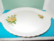 ROYAL ALBERT YELLOW ROSE CAKE PLATE