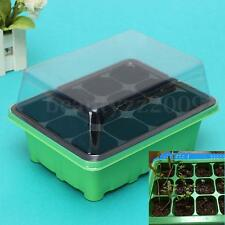 12 Cells Hole Plant Seeds Green Grow Box Tray Cloning Insert Propagation Seeding