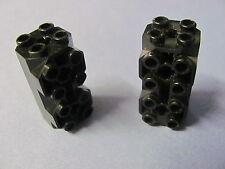 LEGO 6042 @@ Brick, Modified Octagonal 2 x 2 x 3 1/3 Side Studs (x2) @@ BLACK
