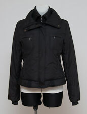 WOMENS JUST B DOWN PADDED JACKET DOUBLE ZIP FUNNEL NECK BLACK SIZE M MEDIUM EXC