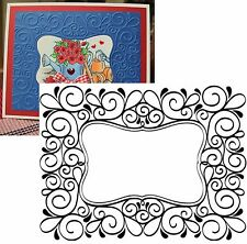 Darice Embossing Folders - Fancy SCROLL FRAME 1215-49 Cuttlebug Compatible