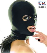 Adult Sexy Roleplay Spandex Hood Stretchy Mask Open Eyes Mouth Nightclub Goth
