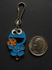 New Cookie Monster Charm Zipper Pull Clip On Charm Bag Purse Jacket Handcrafted