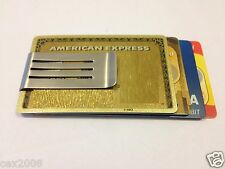 Stainless Steel Money Clip Double Sided Cash Note Credit Card Holder Thin NEW!