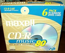 Maxell CD-R Music 80 MIN Pack of 6