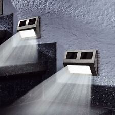 6 x Outdoor Solar Powered LED Stair Step Wall Fence Security Garden Lights Lamp