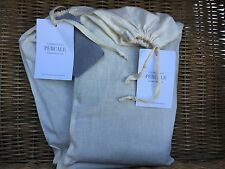 Restoration Hardware Pair of Garment Dyed Percale King Shams Fog Gray New!