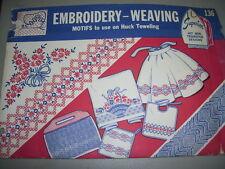 1940s SUPERIOR #136 - MOTIFS TO USE ON HUCK TOWELS - HOT IRON TRANSFER PATTERNuc