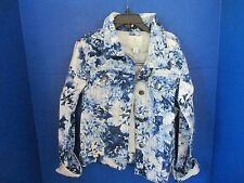 THE CHILDREN'S PLACE~Blue FLORAL JEAN JACKET~Girls Size Large (10-12)