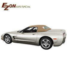 Chevrolet Corvette C5 1998-04 Convertible Soft Top & Glass window Tan Stayfast