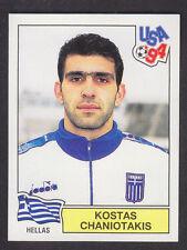 Panini - USA 94 World Cup - # 266 Kostas Chaniotakis - Hellas (Green Back)