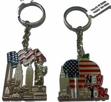 LOT OF 12 PCS NYC SKYLINE KEY CHAIN NEW YORK CITY FREEDOM TOWER KEY RING 69593