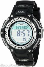 Casio Mens Twin Sensor Multi-Function Digital Outdoors Watch Black - SGW100-1V