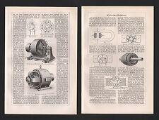 LITOGRAFICO 1925 MACCHINE ELETTRICHE. a corrente continua macchine TRIFASE generatore