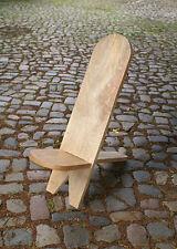 Battle Merchant Steckstuhl aus Hartholz Holzstuhl Mittelalter-Stuhl 105x29cm