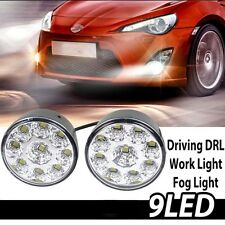 2 X Bright White 9W LED Fog Light Head Lamp Car DRL Driving Daytime Running Day