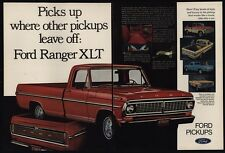 1970 FORD Ranger XLT Red Pickup Truck 2 Page VINTAGE AD