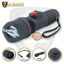 Small Stun Gun Flashlight Rechargeable Self Defense Weapon Guard Dog Inferno
