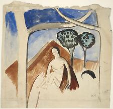 Andre Derain Reproduction: Woman and Mountain - Fine Art Print