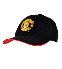 MANCHESTER UNITED FOOTBALL BASEBALL CAP BLACK HAT (OFFICIAL MERCHANDISE) MAN UTD