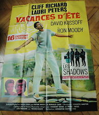 CLIFF RICHARD THE SHADOWS VACANCES D'ETE 1965  RARE AFFICHE FRENCH POSTER