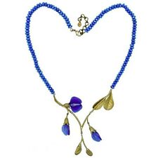 Michael Michaud Silver Seasons - False Indigo Necklace - Blue Agate Beads