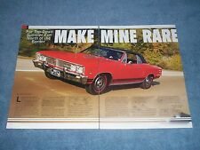 "1967 Beaumont SD-396 Convertible Article ""Make Mine Rare"" Pontiac Chevelle"