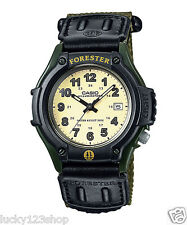 FT-500WC-3B Black Green Casio features a LED light and rugged cloth/Velcro band