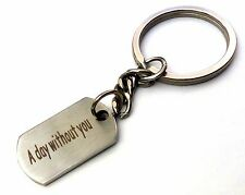 Keyring Mini dog tag key chain Stainless steel Good quality 26mm tag New Gift