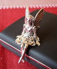 Solid silver 925 hallmarked miniature FAIRY SITTING