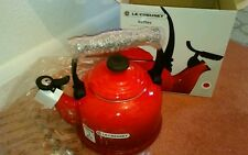 New le creuset red/cerise enamel kettle 2.1L