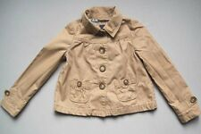 Gap Kids Girls Size 6 7 Years CORSICA Light Brown Floral Lined Jacket EUC Fall