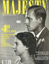 QUEEN ELIZABETH PRINCE PHILIP UK Majesty Magazine 11/87 VOL 8 NO 7 40 YEARS