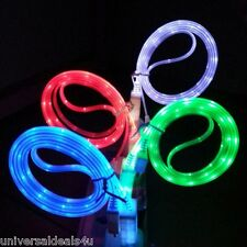 10 x Visible LED Light Micro USB Data Sync Charger Cable For Android Cell - Lot
