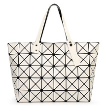 High Quality BAO BAO Issey Miyake Metallic IVORY WHITE TOTE Bag  NEW