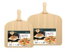 Big Pizza Peel Wood Paddle Board Tray, Pizza Maker Serving & Cutting - 37x38 cm