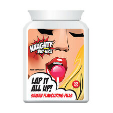 NAUGHTY BUT NICE LAP IT ALL UP SEMEN FLAVOURING PILLS – CUM FLAVOUR ENHANCER