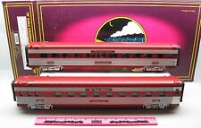 MTH 20-6628 Texas special 2-car 70' ABS sleeper / diner passenger set - ribbed
