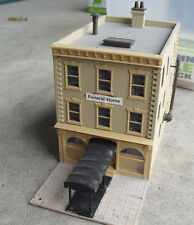Vintage HO Scale Downtown Funeral Home Building LOOK