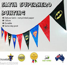 Superhero Birthday Party Bunting 135cm Decoration Spiderman Batman Superman