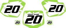 1996-2004 Kawasaki KX500 Custom Pre-Printed White Backgrounds with Green Shock