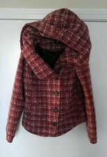 Red Tweed Short Wool Coat by BDG Urban Outfitters, Size XS