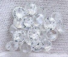 TWO 4mm Round AAA Brilliiant Natural White ZIRCON Round Accent Gem Gemstone