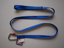 KJK ALPINE CLIP DOG LEAD,25mm - 1.7 metres LONG. MADE IN UK,FREE POSTAGE.BLUE.