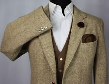 Harris Tweed Blazer Jacket Wedding Country Races 42R EXCEPTIONAL QUALITY 407