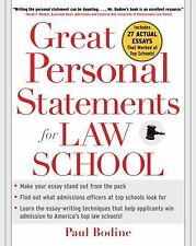 Great Personal Statements for Law School by Paul Bodine (2006, Paperback)
