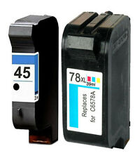 Non-OEM Replaces 45 & 78 Use For HP Deskjet 1220c-ps 1200cse 6122 Ink Cartridges