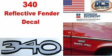 1970 71 Plymouth Duster 340 Reflective Fender Decal New MoPar