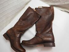 FRYE VERONICA SLOUCH TALL BOOTS BROWN RIDING WOMEN  LEATHER Sz 9 B